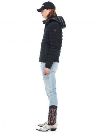 MOOSE KNUCKLES ジャケットその他 [MOOSE KNUCKLES]異素材フードがアクセント★POINT RIDER JACKET(4)