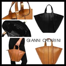【GIANNI CHIARINI】SMALL SIZE DILETTA HAND BAG レザー 2色
