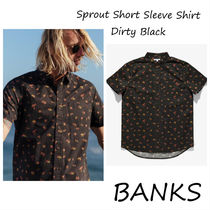 BANKS☆ Sprout Short Sleeve Shirt Dirty Black メンズシャツ