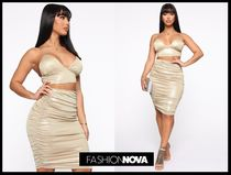 【Fashion Nova】The Glow Upメタリックニットセットアップ