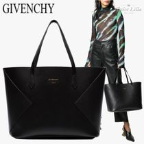 GIVENCHY  Black Wing Leather Tote Bag
