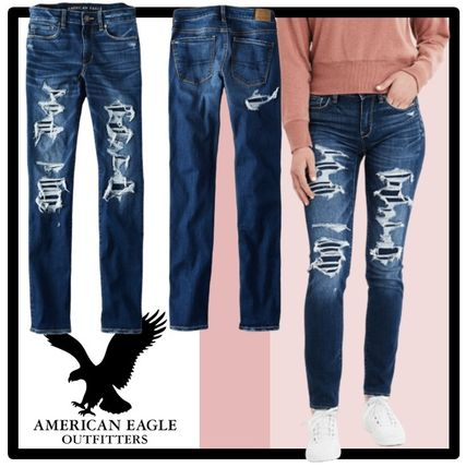 American Eagle Outfitters デニム・ジーパン ★関税込★American Eagle★Denim skinny-fit dystroy pants