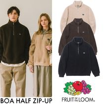 【FRUIT OF THE LOOM】BOA HALF ZIP-UP ボアフリース 3色