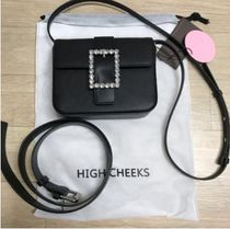 HIGH CHEEKS(ハイチークス) バッグ・カバンその他 HIGH CHEEKS★韓国★Lady Embellished Belt Bag_Black