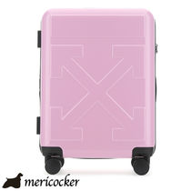 OFF WHITE PINK POLYCARBONATE TROLLEY