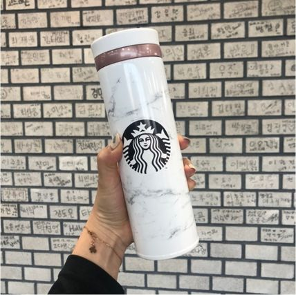Starbucks タンブラー 【韓国Starbucks】 jno marble white thermos  500ml タンブラー
