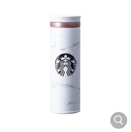 Starbucks タンブラー 【韓国Starbucks】 jno marble white thermos  500ml タンブラー(2)