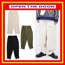 [OPEN THE DOOR]  balloon button pants /全3色/男女兼用/追跡付