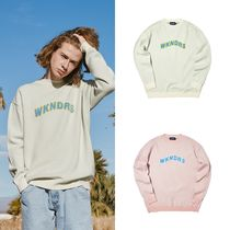 【WKNDRS】20S/S新作 WAVY LOGO KNITTED スウェット Ivory/Pink