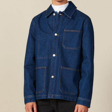 "sandro ジャケットその他 ""sandro homme"" DENIM WORKWEAR JACKET BLUE VINTAGE"