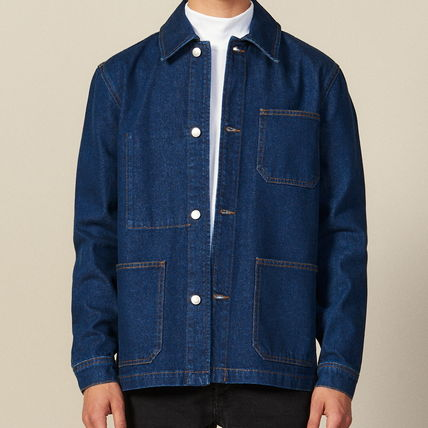 "sandro ジャケットその他 ""sandro homme"" DENIM WORKWEAR JACKET BLUE VINTAGE(2)"