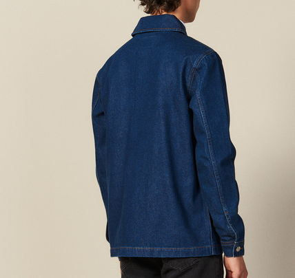 "sandro ジャケットその他 ""sandro homme"" DENIM WORKWEAR JACKET BLUE VINTAGE(3)"