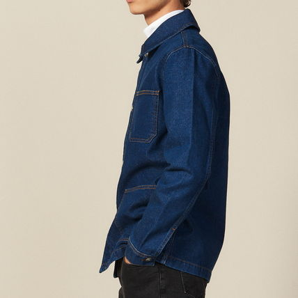 "sandro ジャケットその他 ""sandro homme"" DENIM WORKWEAR JACKET BLUE VINTAGE(4)"