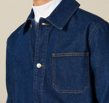 "sandro ジャケットその他 ""sandro homme"" DENIM WORKWEAR JACKET BLUE VINTAGE(5)"
