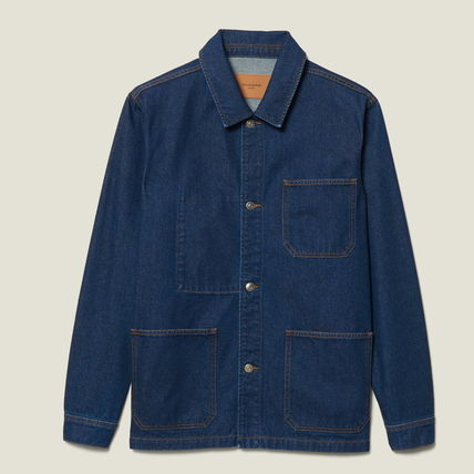 "sandro ジャケットその他 ""sandro homme"" DENIM WORKWEAR JACKET BLUE VINTAGE(6)"