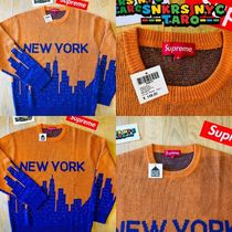 Supreme SS20 Week1 / New York Sweater / Orange