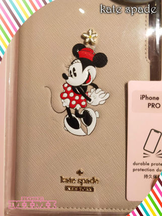 kate spade new york スマホケース・テックアクセサリー ミニーちゃんkate spade☆minnie mouse folio IPHONE11PRO(3)