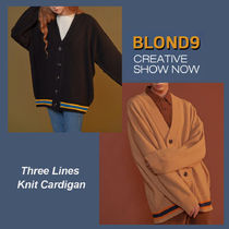 ◆BLOND9◆ THREE LINES KNIT CARDIGAN (全2色) カーディガン