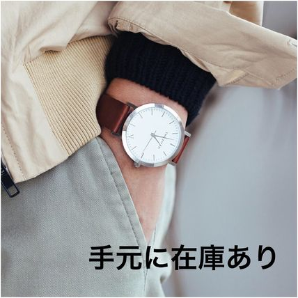 国内発送・送料込み☆The Fifth Watches☆MELBOURNE White & Tan