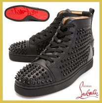 Christian Louboutin★leather high top sneakers【EMS謝恩品】