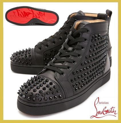 Christian Louboutin スニーカー Christian Louboutin★leather high top sneakers【EMS謝恩品】
