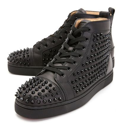 Christian Louboutin スニーカー Christian Louboutin★leather high top sneakers【EMS謝恩品】(2)