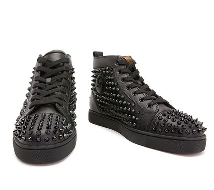 Christian Louboutin スニーカー Christian Louboutin★leather high top sneakers【EMS謝恩品】(4)