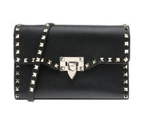 VALENTINO★rock studs grain small crossbody black 謝恩品