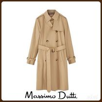 MassimoDutti♪CLASSIC TRENCH COAT WITH HOUNDSTOOTH LINING