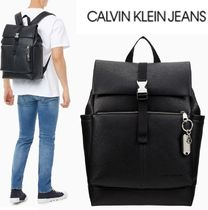 CALVIN KLEIN JEANS TAGGED ROLL TOP BACKPACK 45 BLACK 20SS