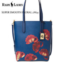 激安価格 ! Ralph Lauren  上質レザー SUPER SMOOTH FLORAL 2WAY