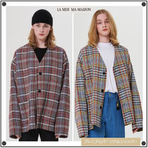 日本未入荷La Mer Ma Maisonの3 BUTTON CHECK CARDIGAN 全2色