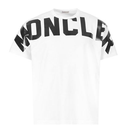 MONCLER Tシャツ・カットソー 関税負担なし☆MONCLER モンクレール ビッグロゴ Tシャツ(4)