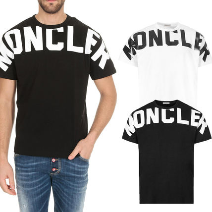 MONCLER Tシャツ・カットソー 関税負担なし☆MONCLER モンクレール ビッグロゴ Tシャツ