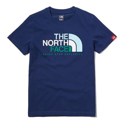 THE NORTH FACE キッズ用トップス 関税込 THE NORTH FACE★K'S MULTI COLOR BIG LOGO EX S/S R/TEE(10)