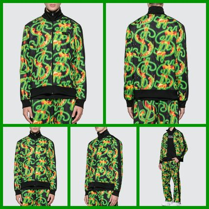 SSS WORLD CORP. ジャケットその他 [SSS WORLD CORP] Fire All Over Print Dollar Fire Track Top