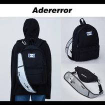 ADERERROR★20SS UNISEX Rivet label 2way bag