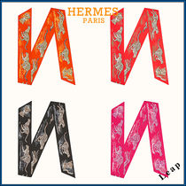【HERMES】Guepards maxi-twilly slim エルメス スカーフ☆