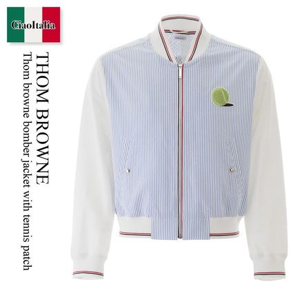 THOM BROWNE ジャケットその他 Thom browne bomber jacket with tennis patch