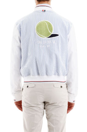 THOM BROWNE ジャケットその他 Thom browne bomber jacket with tennis patch(4)