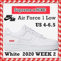 4-6.5 Supreme x NIKE Air Force 1 Low 'Box Logo White' SS 20
