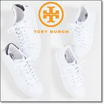 新作★TORY BURCH★HOWELL COURT 白スニーカー 73057