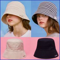 rolarola★大人気★REVERSIBLE CHECK BUCKET HAT_CH-20105