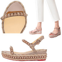 Christian Louboutin Pira Ryad 60 Studded espadrille sandals