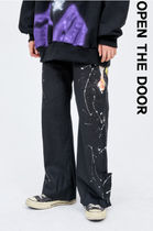 ●OPEN THE DOOR●韓国brand●painting button pants (2 color)