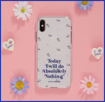 rolarola★大人気★FLOWER PATTERN JELLY PHONE CASE MULTI