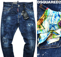 18SSディースクエアードDSQUARED2チーフ付デニムSEXY TWIST JEAN