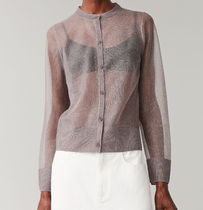 """COS""  SHEER CARDIGAN LIGHTGRAY"