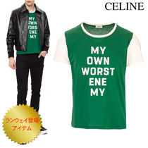 《新作》CELINE T-SHIRT in FLOCKED JERSY COTTON