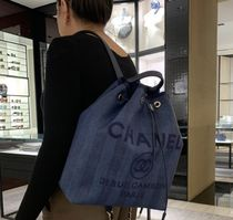 ★2020 S/S CHANEL★DEAUVILLE BACK PACK in navy